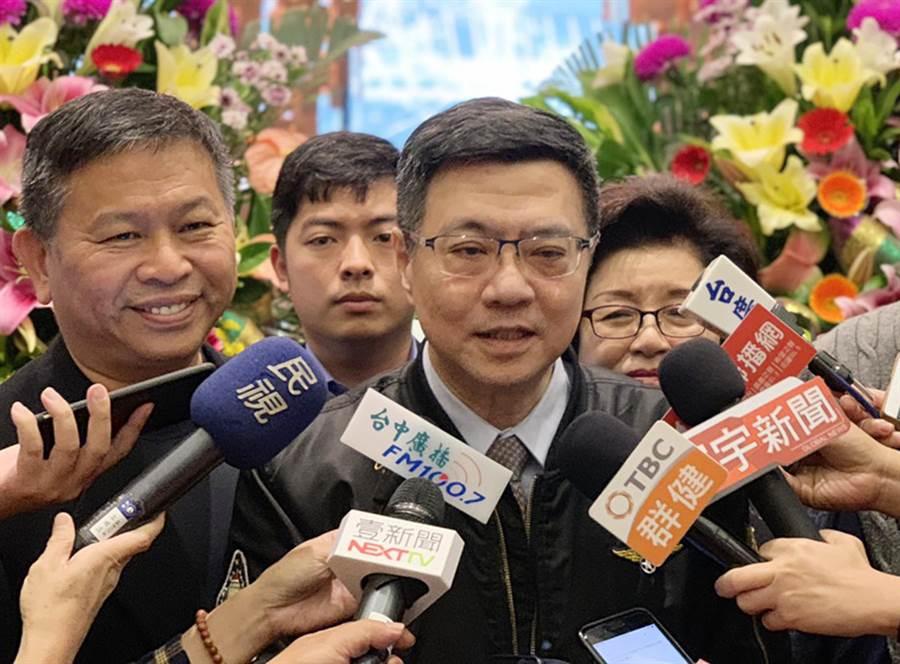 前行政院祕書長卓榮泰3日到台中寶麗金餐廳,針對民進黨四大老阻小英2020選總統,他認為是「恨鐵不成鋼」!(陳世宗攝)