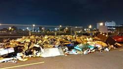 台中水湳經貿園遭倒垃圾 多達3噸成垃圾天堂