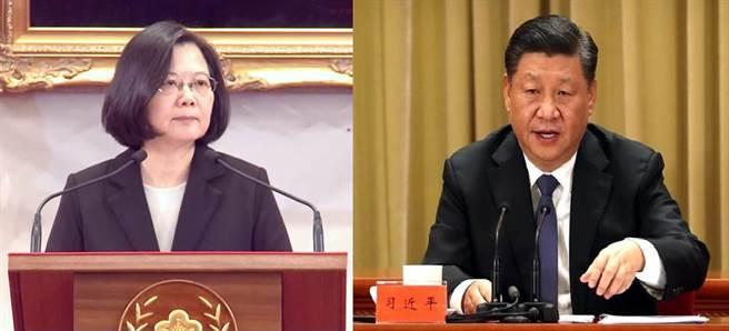 總統蔡英文(左)、大陸領導人習近平(右)。(圖/合成圖,本報資料照)