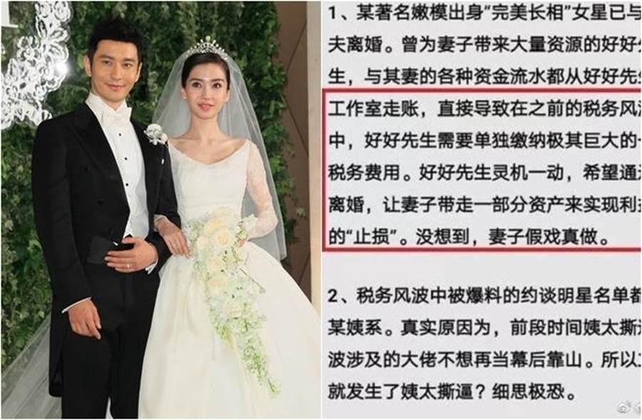 黃曉明與老婆Angelababy先前被傳離婚。(圖/達志影像;翻攝自鳳凰網娛樂微博)