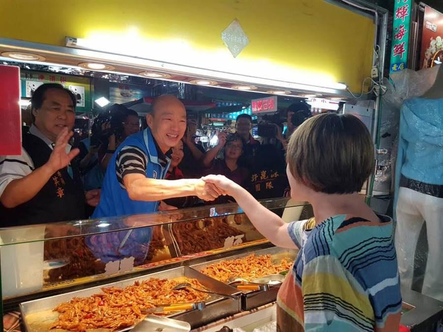 韓國瑜18日將現身六合夜市,示範如何使用高雄幣。(圖/取自韓國瑜FB)
