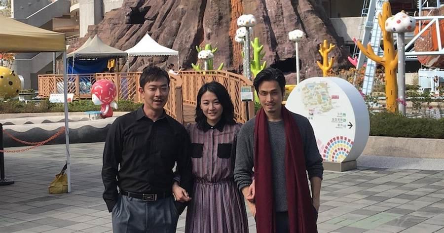 江俊翰(左起)、江祖平、Gino。(洪秀瑛攝)