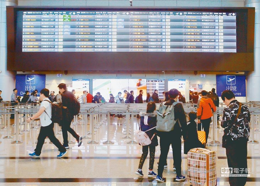 桃機公司將調整房租,對於突如其來的漲聲,航聯會表示吃不消。圖為桃園機場第二航廈出境大廳。(陳麒全攝)