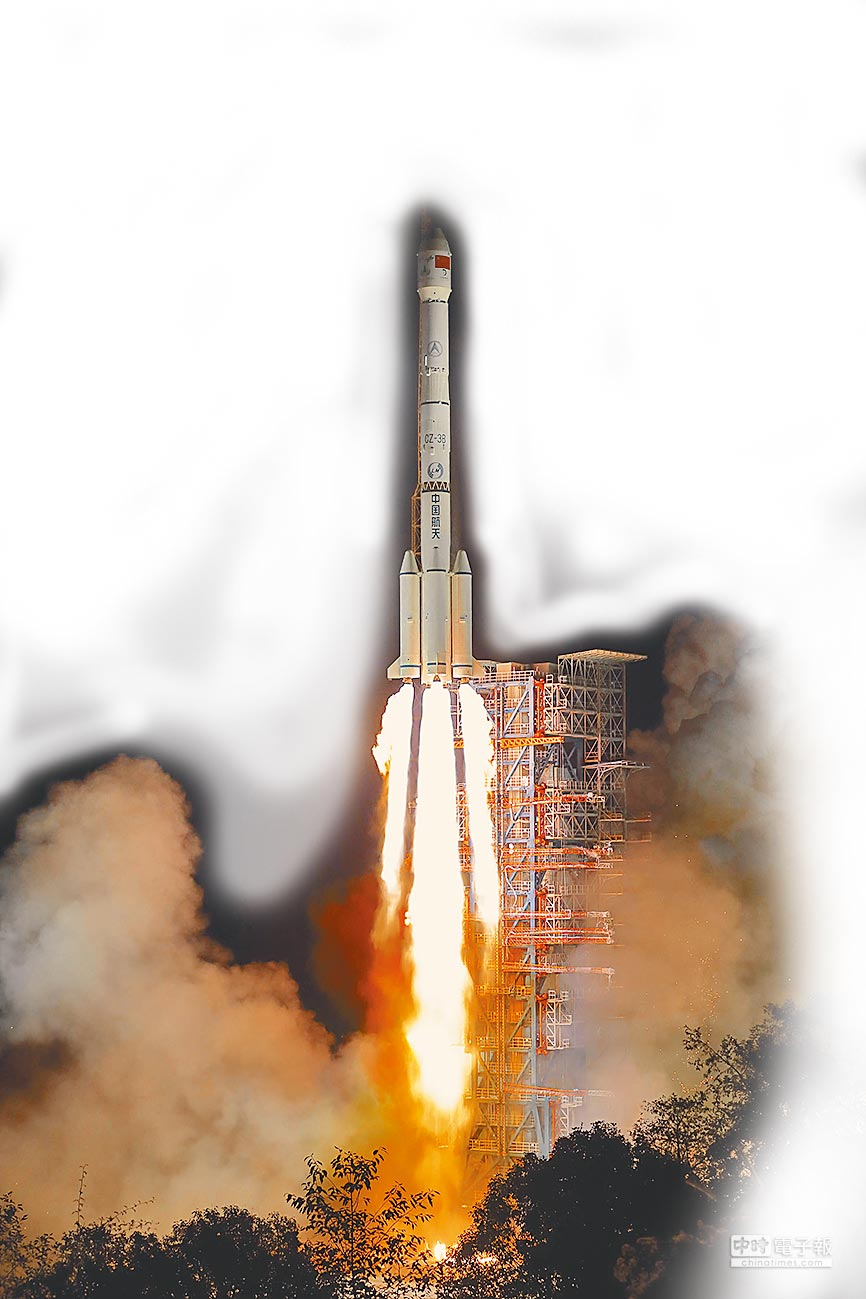 2018年12月8日,大陸在西昌衛星發射中心,用長征三號乙運載火箭,成功發射嫦娥四號探測器。(新華社)