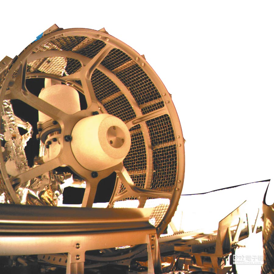 嫦娥四號巡視器車輪。(新華社)