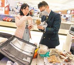 查獲109件肉品包裹 1/5來自陸