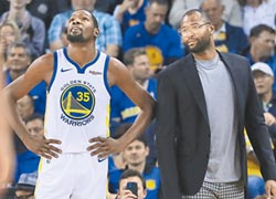NBA》考神歸隊 西區第二 衛冕軍勇士傳利多消息
