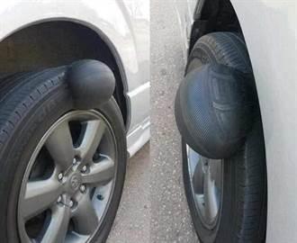 輪胎「長瘤」腫一包?網友嚇傻:別戳!會爆炸