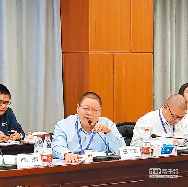 北京航空航天大學一國兩制法律研究中心執行主任田飛龍。(記者藍孝威攝)