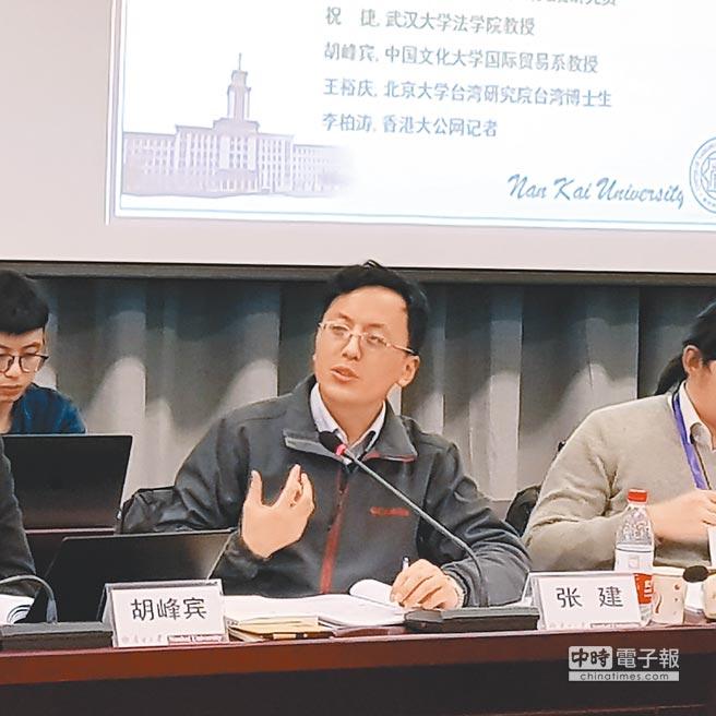 上海國際問題研究院研究員張建。(記者藍孝威攝)