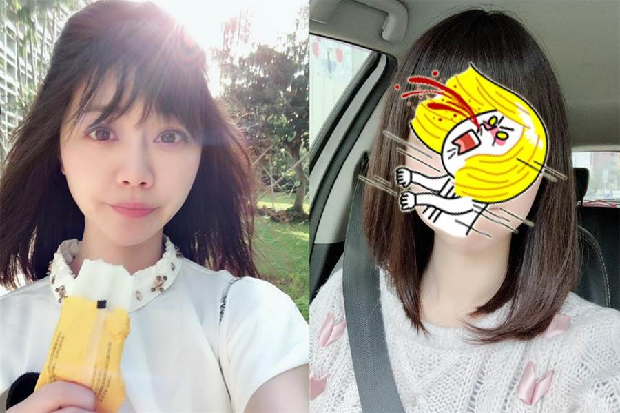 「學姊」頓時失色!高嘉瑜曬呆萌新髮型。(圖/翻攝自高嘉瑜臉書)
