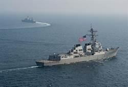 美海軍勃克級神盾艦 昨行經台灣海峽進行訓練