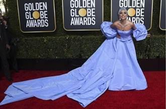 影》金球紅毯爭艷!女神卡卡化身藍精靈 吳恬敏「肉色內衣」外穿