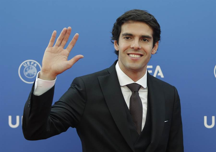 巴西退役足球明星卡卡。(資料照/美聯社)