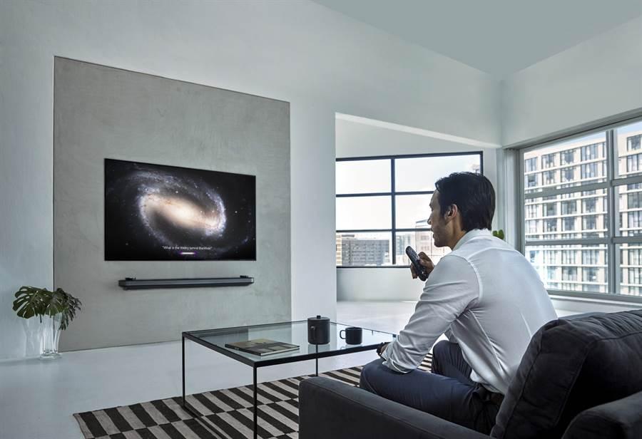 LG OLED TV 2019搭載更強大的AI技術。(圖/LG提供)