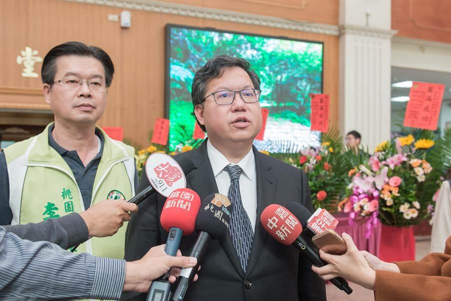 桃園市長鄭文燦贊成「經濟紅利」400億給低薪族,盼建立負租稅制度。(蔡依珍攝)
