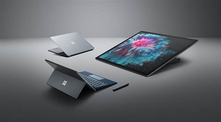 微軟Surface新一代裝置包括Surface Pro 6、Surface Laptop 2、Surface Studio 2將於1月15日正式在台上市。(圖/微軟提供)
