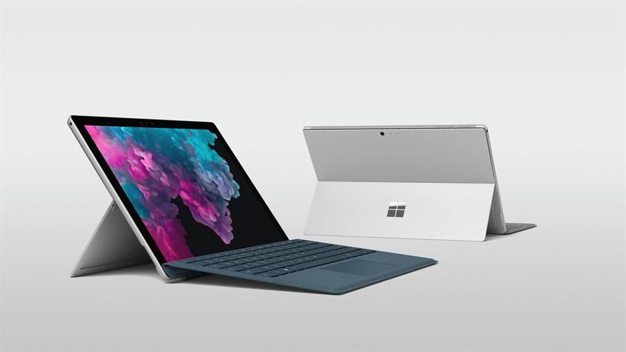 Surface Pro 6延續前一代的精緻外觀、纖巧便攜,並具備全天候電池續航力以及相較前一代高出1.5倍的強大效能。(圖/微軟提供)