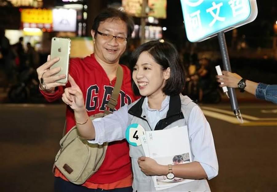 「學姊」黃瀞瑩將為陳思宇的競選歌曲獻聲。(報系資料照)