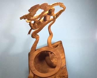 漁夫木雕師用創作展現真性情