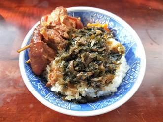 「魯肉阿倫」 焢肉飯配菜梅乾超對味