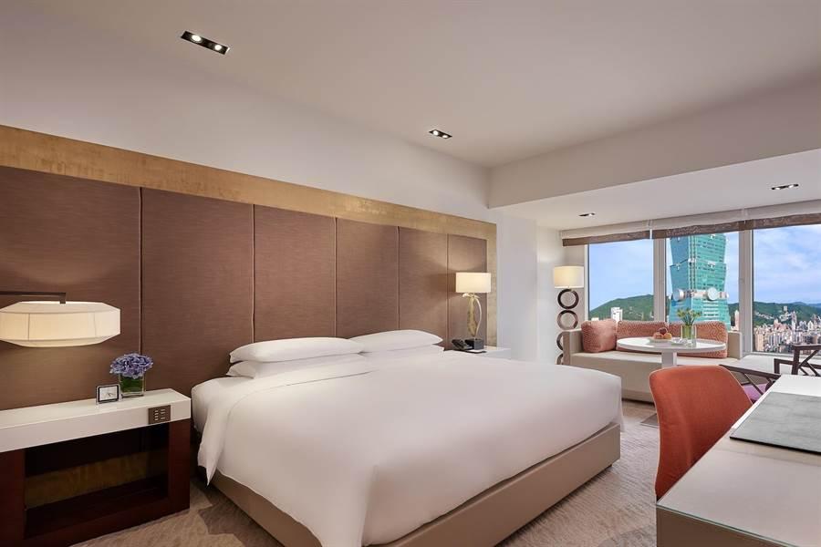 台北君悅酒店的君悅景觀客房,在1月也可享有暖冬遊補助。(台北君悅酒店提供)