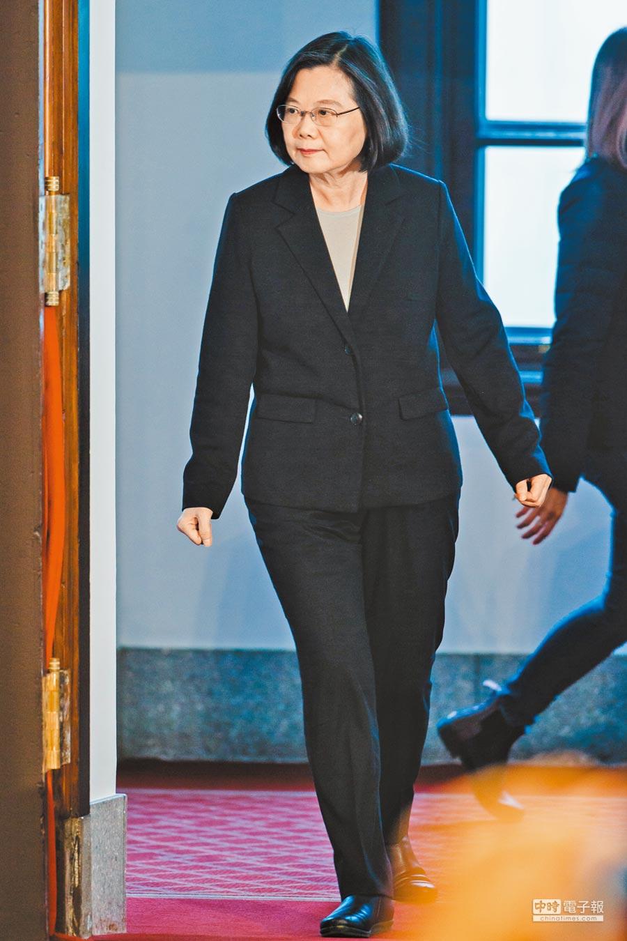 蔡英文總統2日發表談話,強調台灣絕對不會接受「一國兩制」。(本報系資料照片)