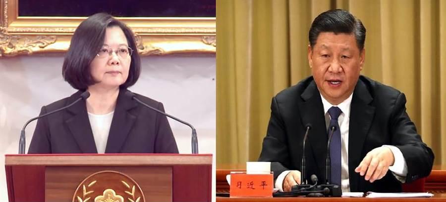 總統蔡英文(左)、大陸國家主席習近平(右)。(圖/合成圖,本報資料照)