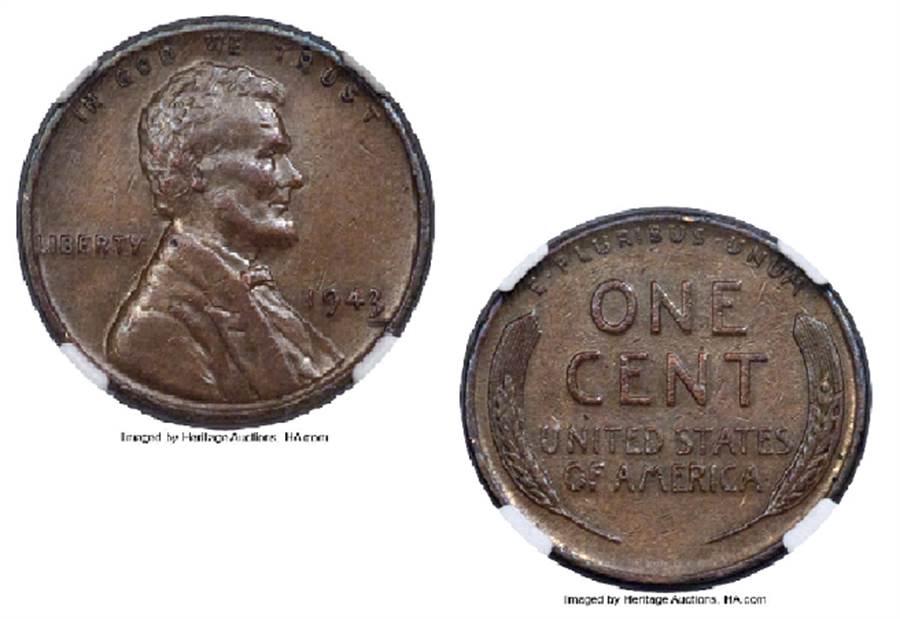 美國一名男子因為學校餐廳找的零錢,在多年以後賺了一大筆錢。(翻攝自拍賣網站Heritage Auctions)