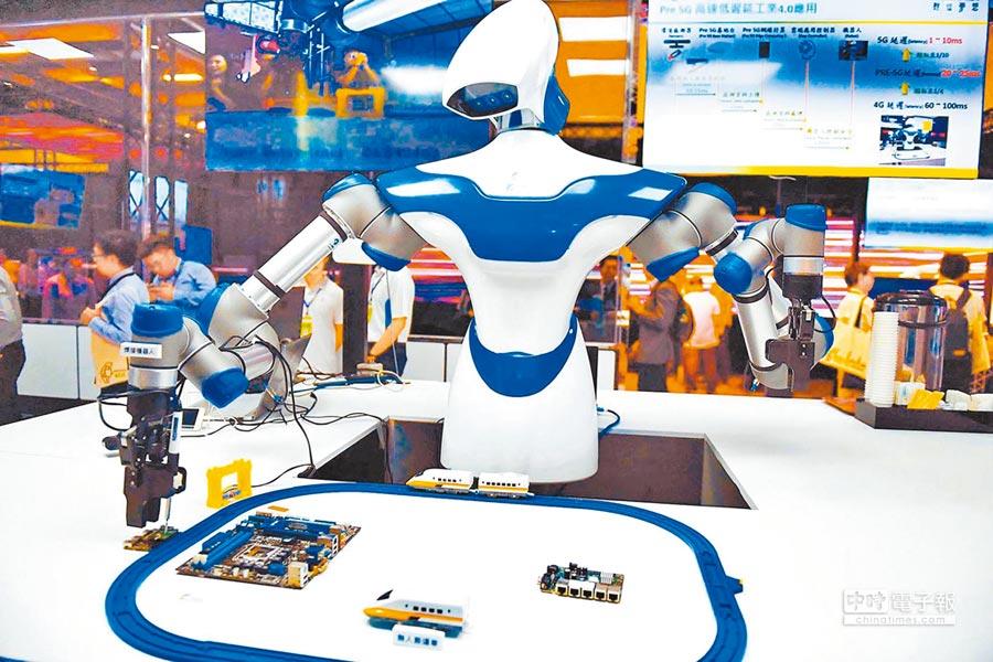 中日韓過半企業有意與初創企業合作,多鎖定AI領域。圖為大陸科技展會場。(新華社資料照片)