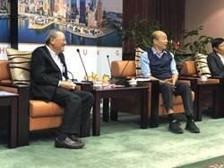 影》中油董座戴謙拜會高雄市長韓國瑜 雙方決議成立溝通平台