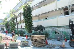 地震工程即課程明禮國小學生在工地中上課
