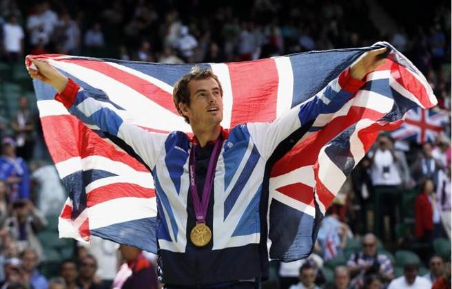莫瑞在倫敦奧運替英國留下男單金牌。(美聯社資料照)
