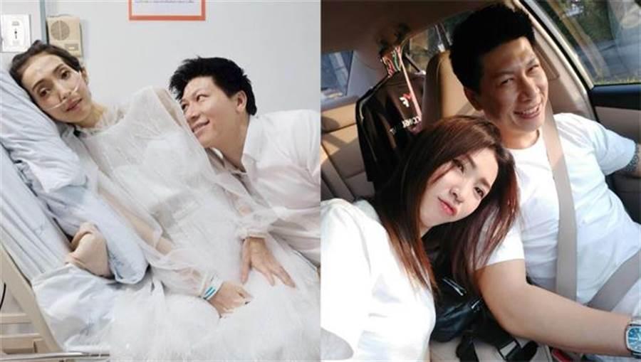 正妹罹癌男友不離不棄守護 完婚7日她含淚過世(圖翻攝自臉書/TuaKook Kook Kitjaroenchai)
