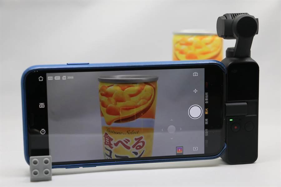 OSMO Pocket搭配「DJI Mimo」的Story實拍模式。(圖/黃慧雯攝)