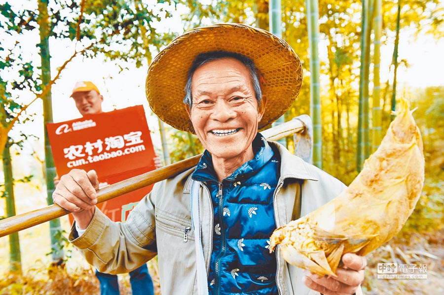 農村淘寶直播走進福建尤溪,村民展示當地特產冬筍。(新華社資料照片)