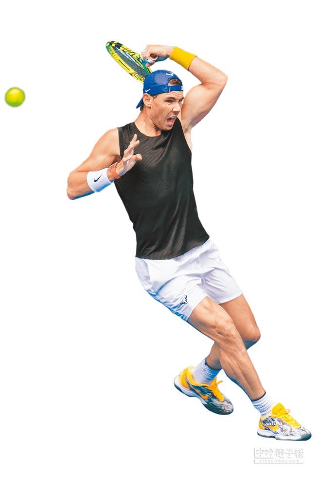 納達爾去年球季動手術治療腳踝傷勢,今年澳網健康出賽,強勢問鼎冠軍。(法新社資料照)
