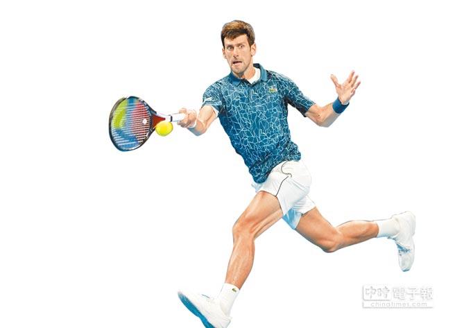 現任球王喬柯維奇去年美網封王後,打出絕佳氣勢,是本屆澳網男單奪冠大熱門。(法新社)