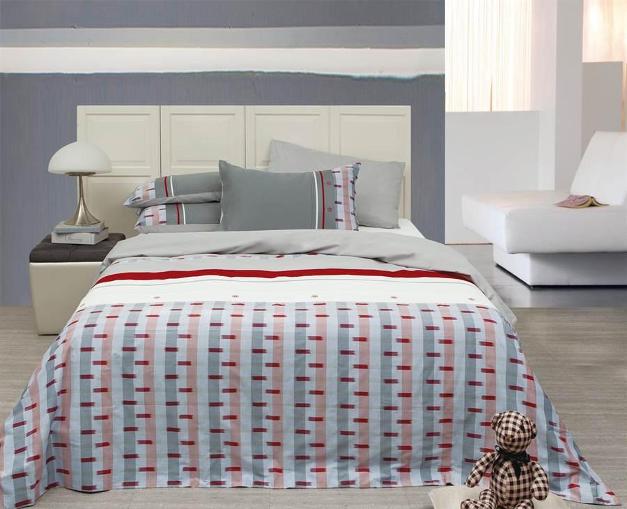 指定款純棉雙人四件式床組限量特價1500元。(日比家族提供)