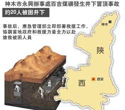 陝西礦井塌陷重大事故 21人遭活埋 釀19死、2失蹤