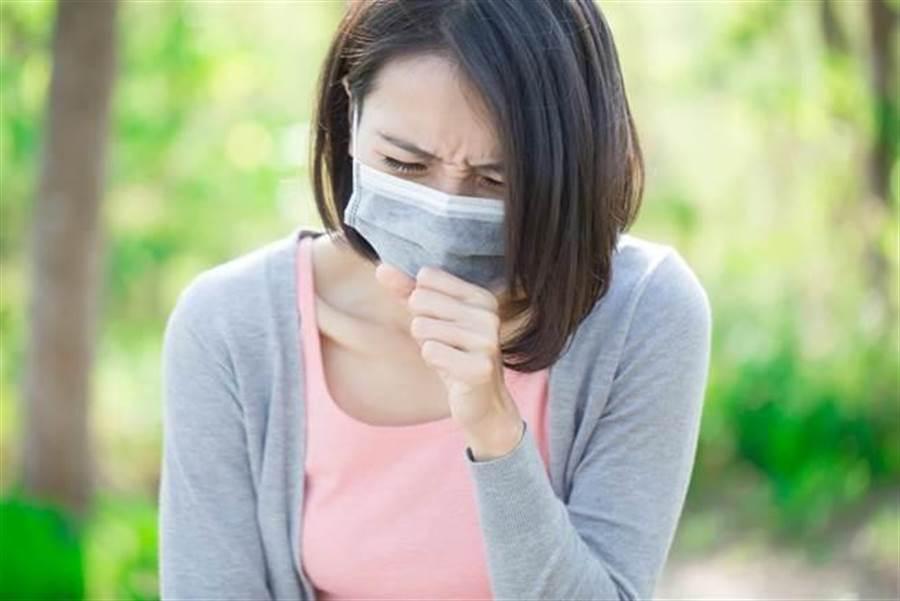 冬天易感冒,咳嗽、喉嚨痛。(達志影像/shutterstock提供)