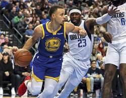 NBA》柯瑞11顆三分球狂轟 勇士驚險4連勝