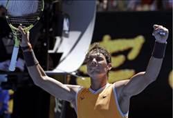 澳網》睽違4個月首場正式賽 納達爾直落三勝