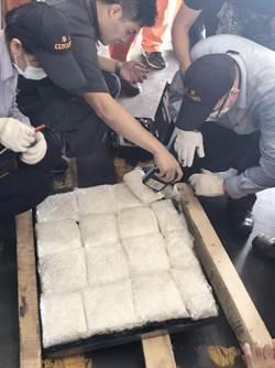 進口模具夾藏百餘公斤K他命 4人遭逮起訴
