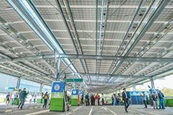 竹科首座停車場屋頂太陽能 插電啟用