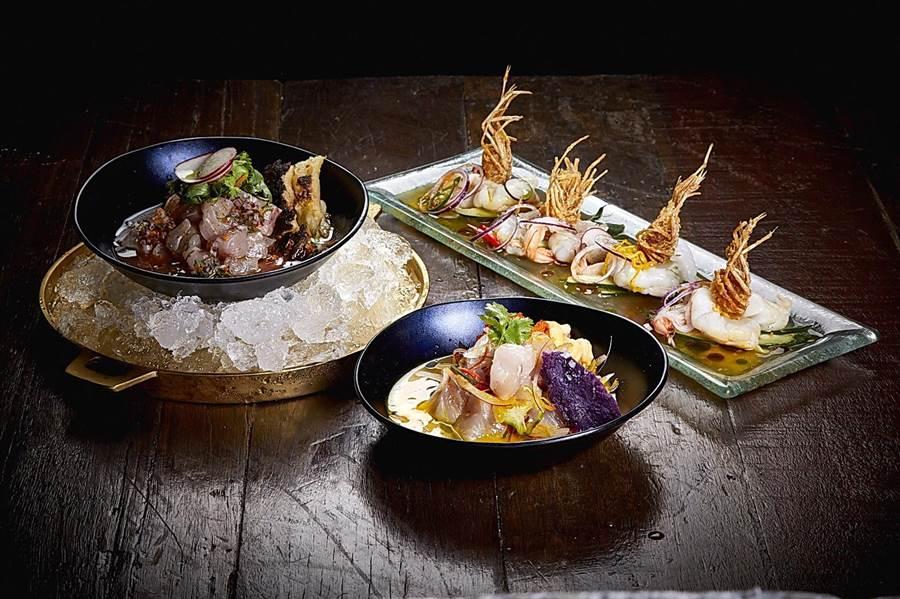 「RegentXMeatlicious饗宴」套餐中除有烤肉,並有獨特的〈冷漬海鮮〉。(圖/晶華酒店)