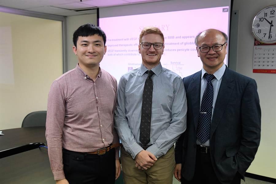 中研院生醫所研究員謝清河研究團隊(右)的研究成果,開啟治療腦癌的新契機。(中研院提供)