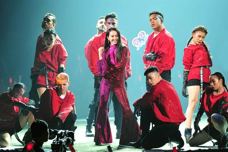 蔡依林擔任2019《紅白》表演嘉賓。(台視)