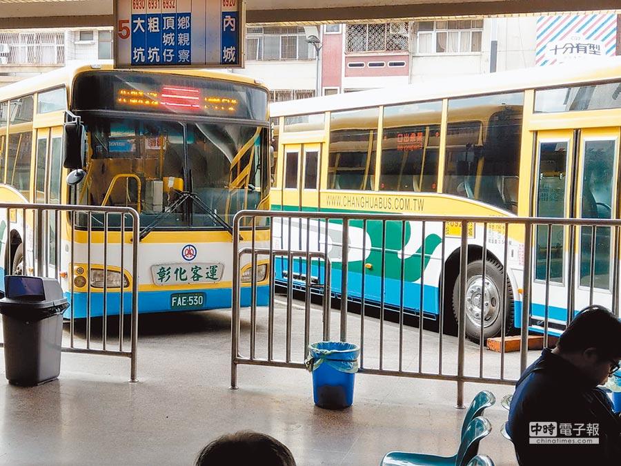 彰化客運在中寮鄉、草屯鎮有4條路線,將於2月中旬停駛。(廖志晃攝)