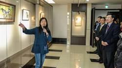 藝術家在新竹地檢署展覽作品很療癒